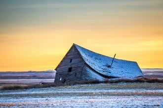 Einstein in the barn - image for article by Greg Alder