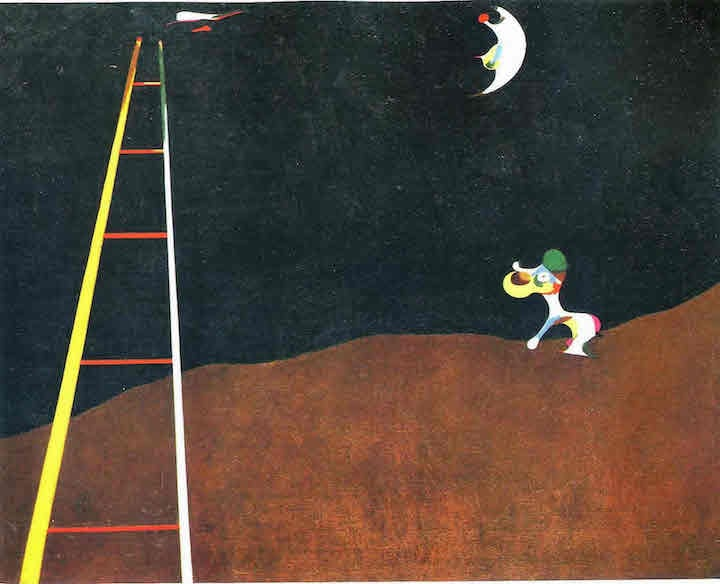 Joan Miró – Dog Barking at the Moon 1926